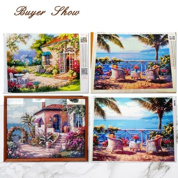 Huacan Full Square Diamond Painting Cross Stitch 5d DIY Diamond Embroidery Scenery Needlework Rhinestone Mosaic