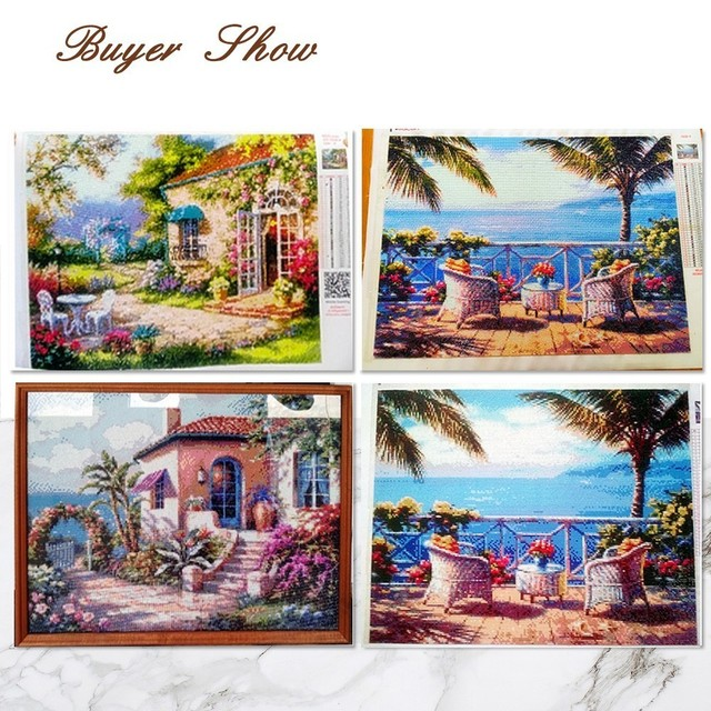 Huacan Full Square Diamond Painting Cross Stitch 5d DIY Diamond Embroidery Scenery Needlework Rhinestone Mosaic Home