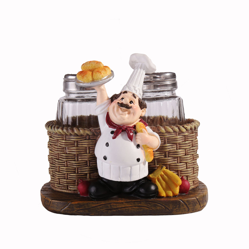 American Style Creative Resin Cook Pepper Salt And Pepper
