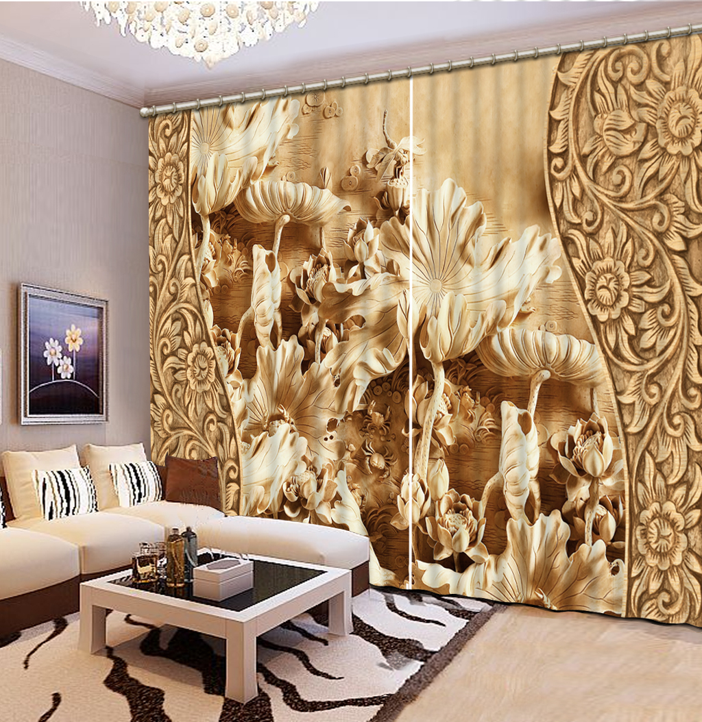 NoEnName_Null 3D Printing Curtains High Quality HD Visual Enjoyment Curtains Bedroom Living Room Sunshade Window Curtain CL-D025NoEnName_Null 3D Printing Curtains High Quality HD Visual Enjoyment Curtains Bedroom Living Room Sunshade Window Curtain CL-D025