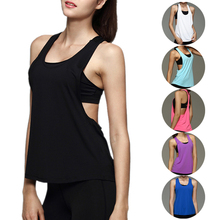 2017 Summer Sexy Fitness Clothes Women Tank Tops Loose Workout Sleeveless Quick Dry Vest Singlet For Women T-shirt