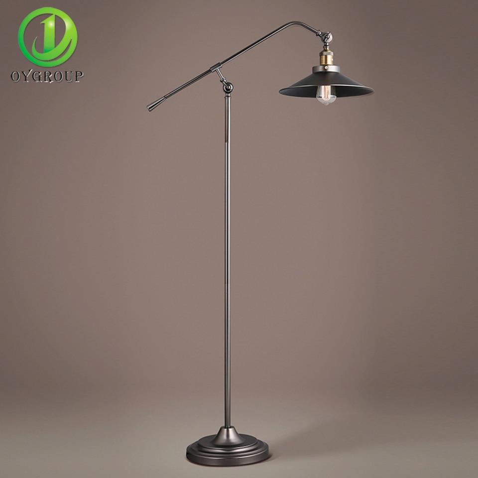 Vintage Floor Lamp Industrial Indoor Standing Light 3