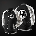 New Trend Spring Black Varsity Baseball Jacket Men/Boy Fashion Japanese Anime Dragon Ball Goku Lightweight Bomber Jacket For DBZ