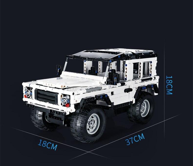 Technic série 553 pièces Defender RC voiture modèle SUV bricolage bloc de construction voiture brique jouets pour enfants Compatible avec Legoed - 3