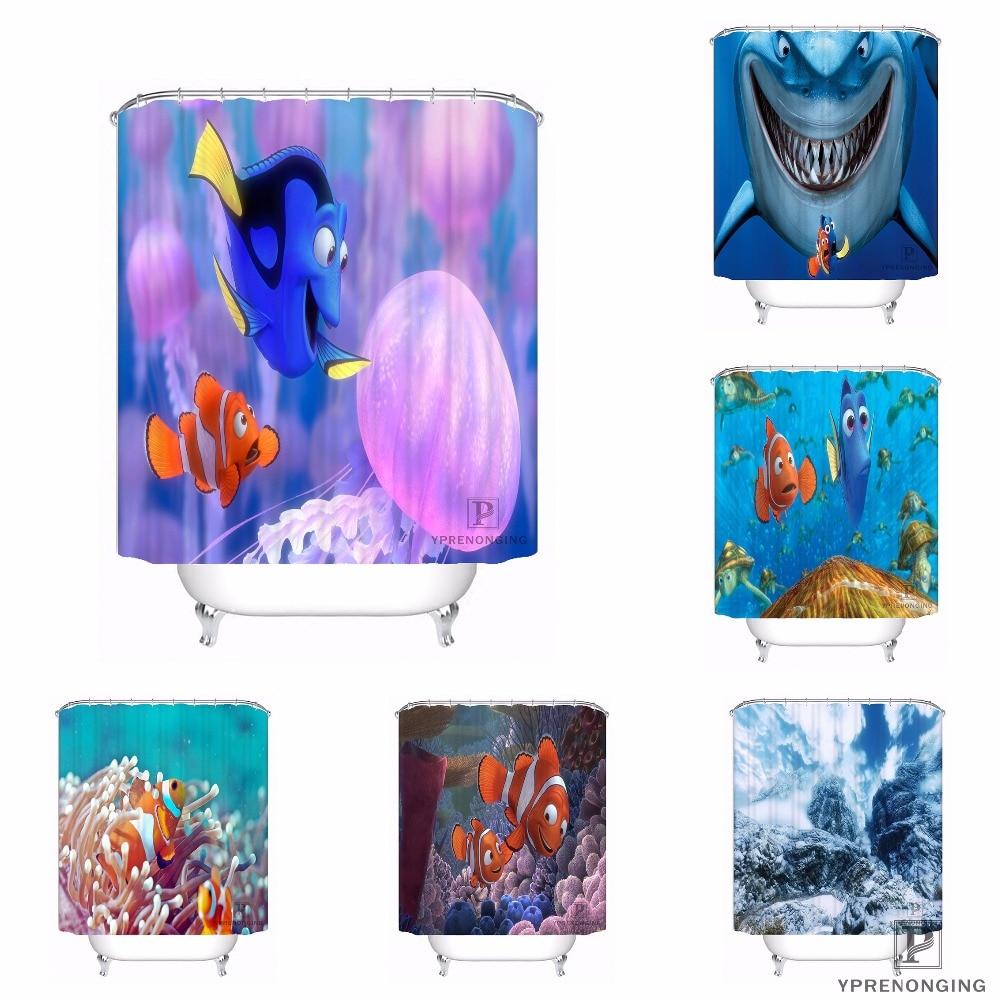 Custom Finding Nemo 02 Shower Bath Bathroom Curtain
