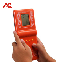 Retro Clássico Da Infância Tetris Jogos Brinquedos Game Console Handheld Do Jogo Jogadores LCD Eletrônico Enigma Brinquedos Educativos