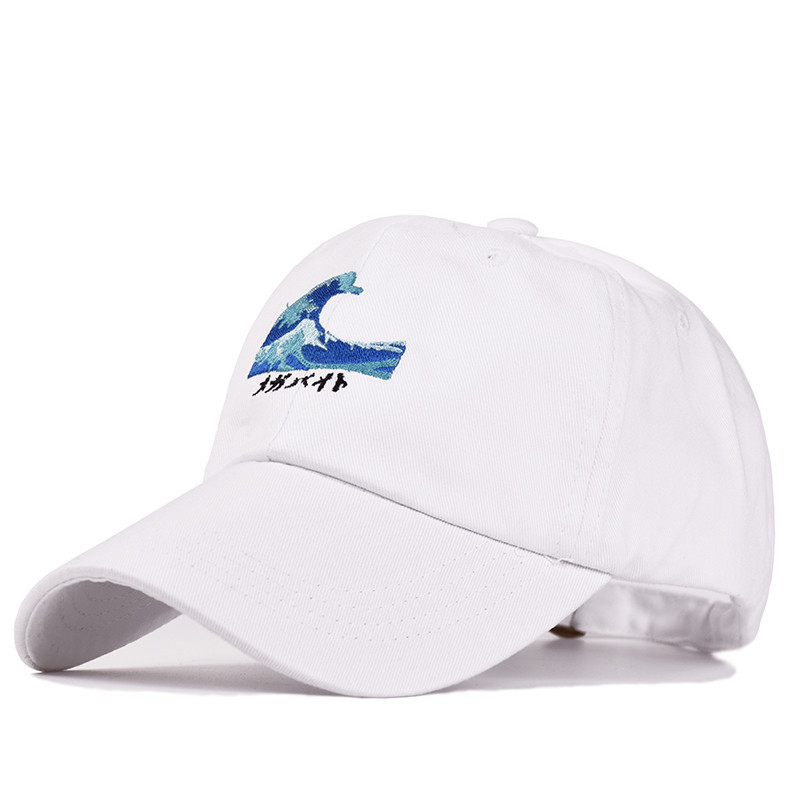 2019 hot sales Waves Embroidery   Baseball     Cap   Japanese Style Men Women Casual Curved Breathable Snapback Sun Hats Bone