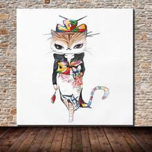 Ручная роспись палитра нож кошка королева животное картина маслом на холсте Современные абстрактные настенные картины для декора гостиной отеля