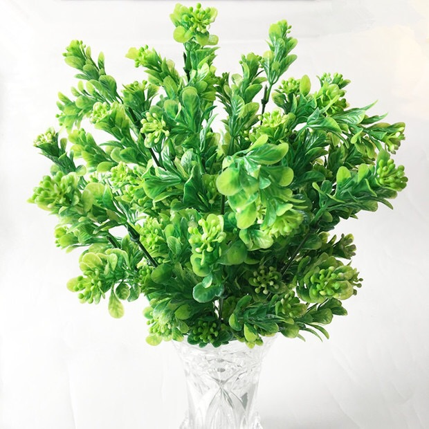 3PCS/ lot Mix Rice grass plastic artificial flowers Green plant wall background flower arrangement.