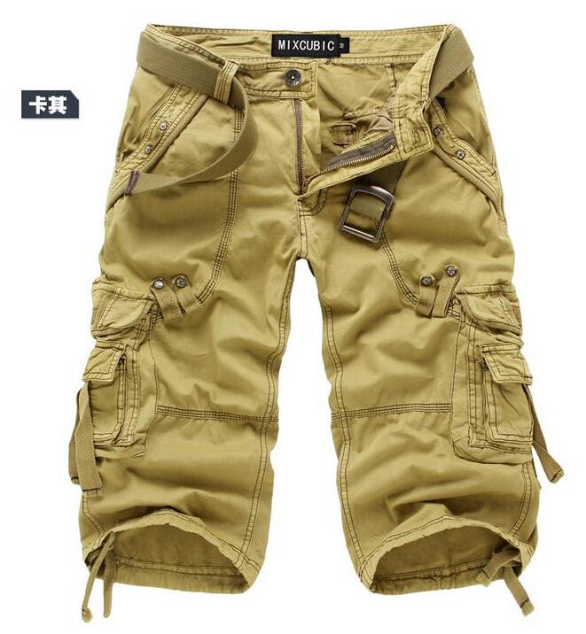 Для мужчин брюки-карго Шорты для женщин бермуды masculina De Marca Для мужчин Повседневное брюки-карго Шорты для женщин Военная Униформа камуфляж хлопок короткий - Цвет: Хаки