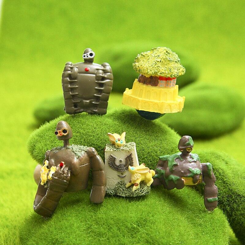 1 шт. Studio Ghibli Хаяо Миядзаки Лапута Небесный замок Лапута робот Симпатичные фигурки DIY ПВХ фигурку игрушки коллекция модель игрушки ...