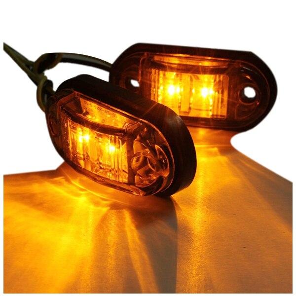 12V / 24V  LED Side Marker Lights Lamp For Car Truck Trailer E-marked Amber
