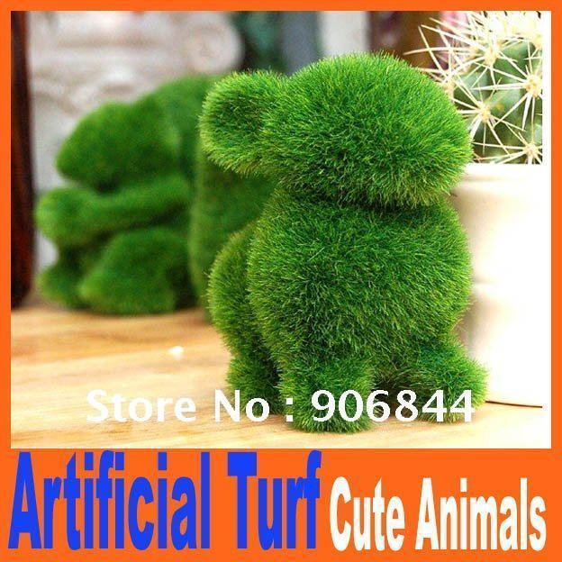 Christmas Grass Land cute small animals artificial grass,animals designs decorations, can relieve eye fatigue Artificial Turf