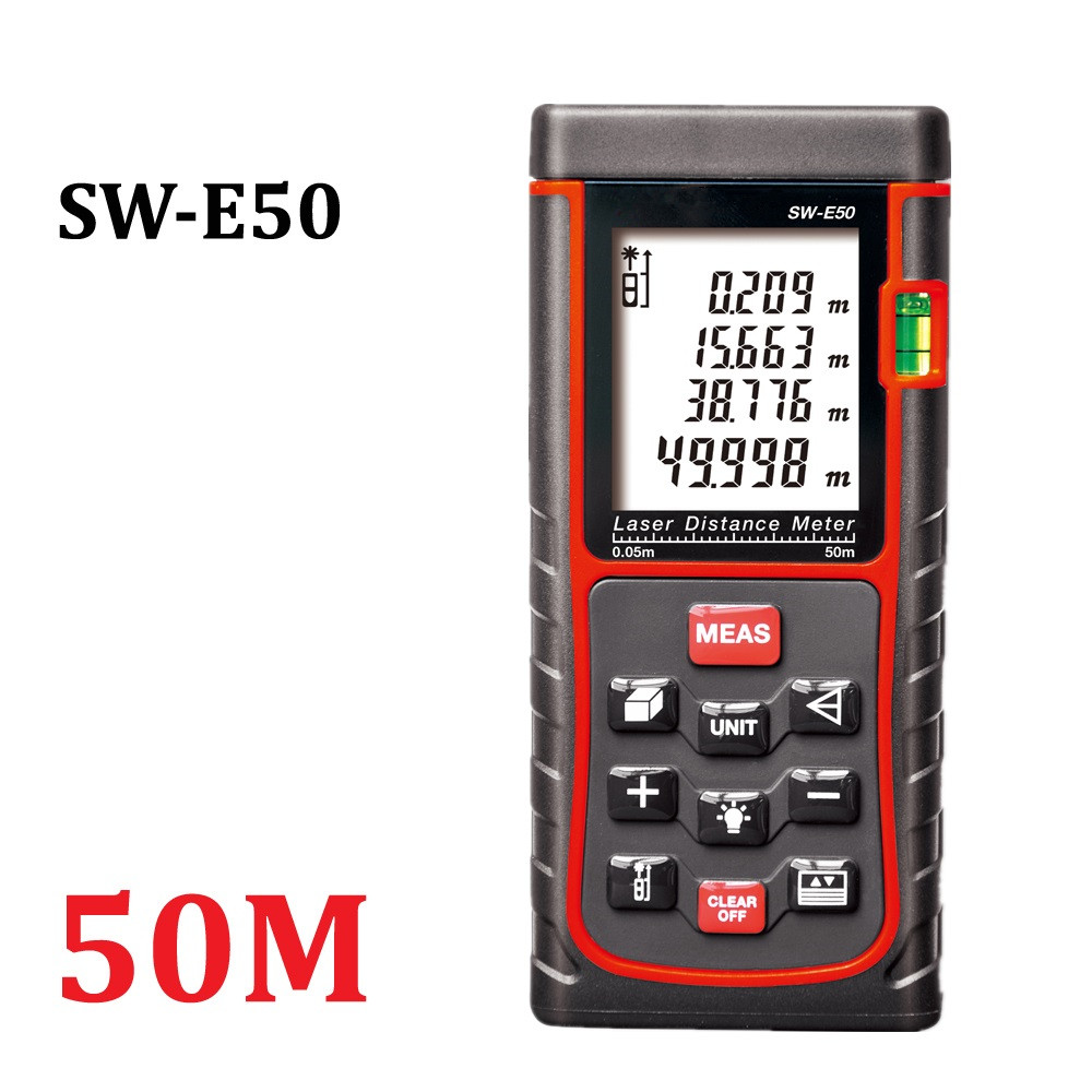 50M Laser Measure Laser Distance Measurer with Pythagorean Mode Area Volume font b Calculation b font