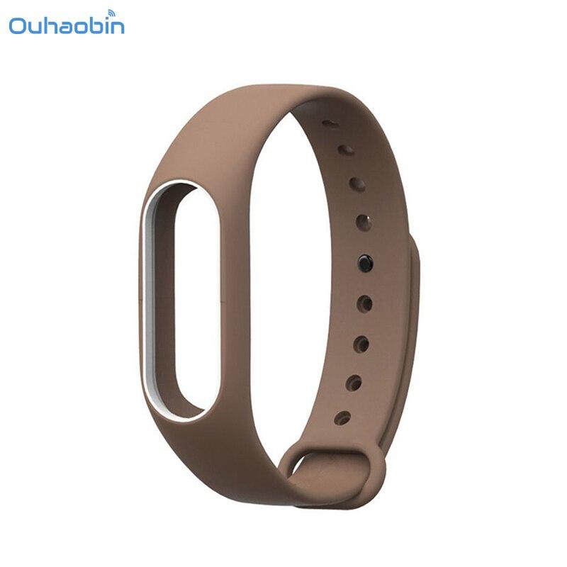 Ouhaobin New Fashion Original Silicon Wrist Strap WristBand Bracelet Replacement For XIAOMI MI Band 2 High Quality Strap Sep5