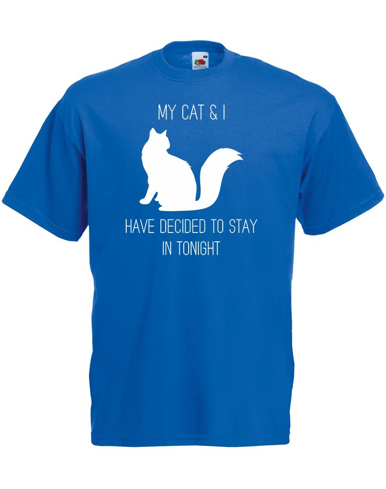 My Cat amp I Have Decided To Stay In Mens Printed T Shirt New T Shirts Funny Tops Tee New Unisex Funny Tops free shipping in T Shirts from Men 39 s Clothing