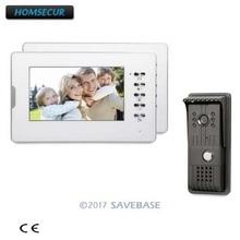 HOMSECUR יד משלוח 7 אינץ וידאו דלת טלפון אינטרקום מערכת עם TFT LCD צג CMOS מצלמה