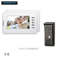 HOMSECUR el ücretsiz 7 inç görüntülü kapı telefonu interkom sistemi TFT lcd monitör CMOS kamera