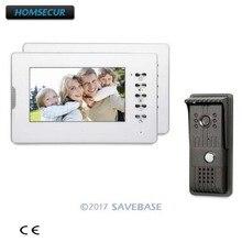 Homsecur Tay Miễn Phí 7 Inch Video Cửa Điện Thoại Liên Lạc Nội Bộ Hệ Thống Với Màn Hình LCD TFT CMOS Camera