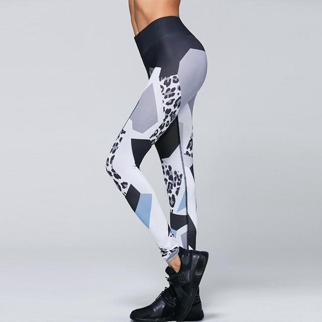 8191d08216ada Women Fitness Leggings Sports Yoga Pants Breathable Leopard Printing  Stretch Gym Running Athletic Tight Trousers Hips Push-Up