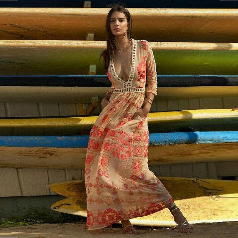 7933b8a5cf Bath Dresses Woman Swim Suit Cover Up Beach Plus Size Sexy Dress New Summer  2019 Print Lace Skirt Big Pendulum Solid Acetate