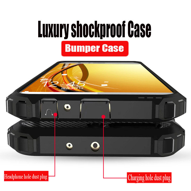 Luxury Shockproof Armor Case Cover On For Huawei Honor <font><b>10</b></font> 9 Lite P Smart 2019 8X 7C7A Case For Huawei Y6 Y7 Prime <font><b>2018</b></font> Soft Case image