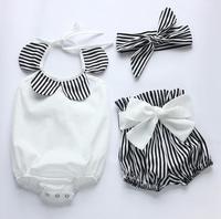 Kleinkind Mädchen Kleidung Anker Tops Hemd Polka Dot Briefs Kopf Band 3 stücke Outfits Set
