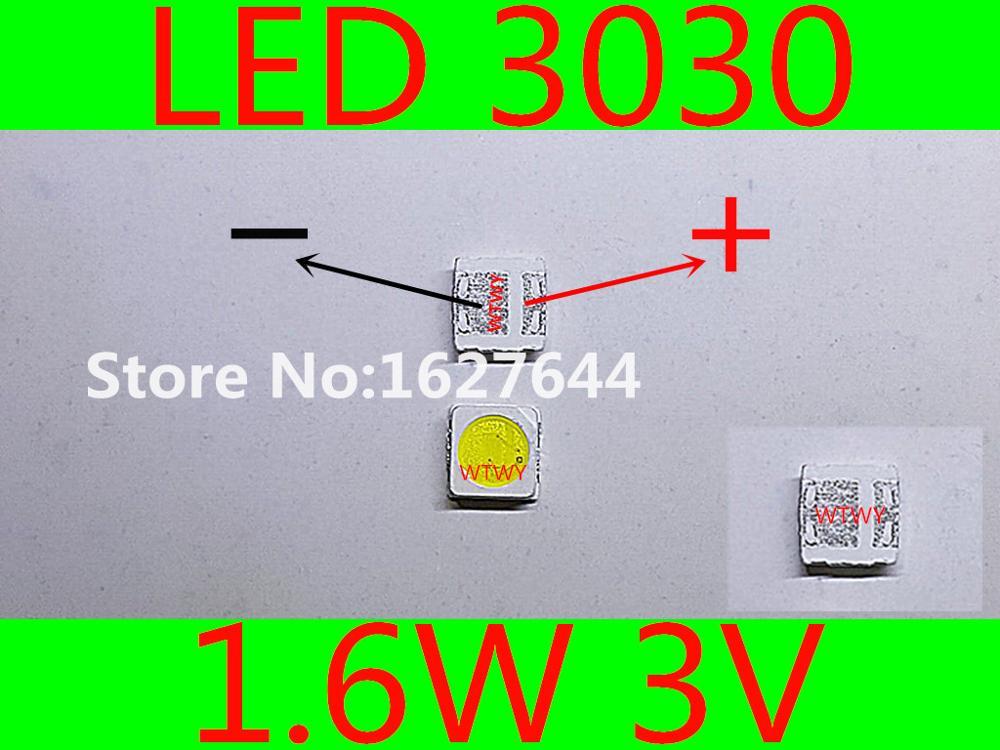 1000pcs Everlight Led 3030 Led Backlight Tv High Power 1.6w 3v Led Backlight Cool White For Led Lcd Tv Backlight Application