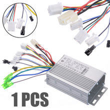 Electric Bicycle Accessories 36V/48V Electric Bike 350W Brushless DC Motor Controller For Electric Bicycle E-bike Scooter(China)