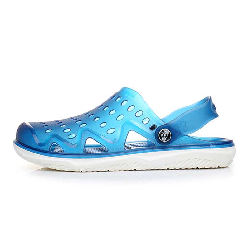 KESMALL New 2016 Hot Baotou Garden Shoes New Breathable Cool Summer Slippers Tank Hole Shoes Men