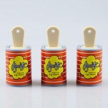 Sevimli boya kovası dudak parlatıcısı plastik kutu konteynerler boş gümüş dudak krem tüpü Eyeliner kirpik konteyner dudak sopa bölünmüş şişe
