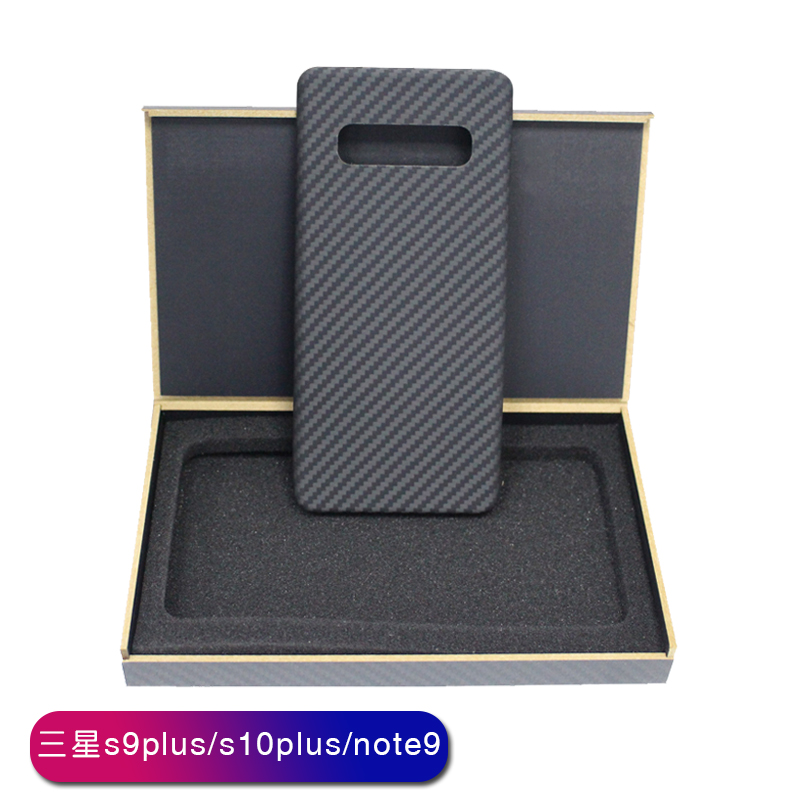 handcraft real carbon fiber fashion ultra-thin mobile phone case for Samsung S 8 9 10 plus E Note 8 9 hard business phone shell