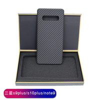 handcraft real carbon fiber fashion ultra thin mobile phone case for Samsung S 8 9 10 plus E Note 8 9 hard business phone shell