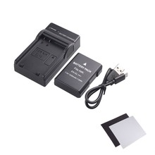 EN-EL14/EN-EL14a Battery and Ultra Slim Micro USB Charger Kit for NIKON DSLR D5300 D5200 D5100 D3300 D3200 D3100 Digital Camera