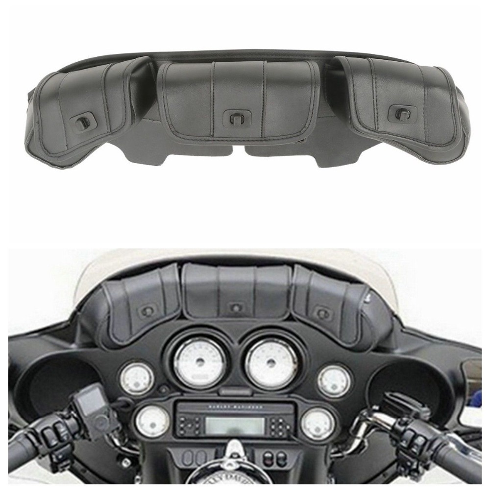 Motorcycle Windshield Saddle 3 Pouch Bag For Harley Touring Electra Street Tri Glide 96-13Motorcycle Windshield Saddle 3 Pouch Bag For Harley Touring Electra Street Tri Glide 96-13