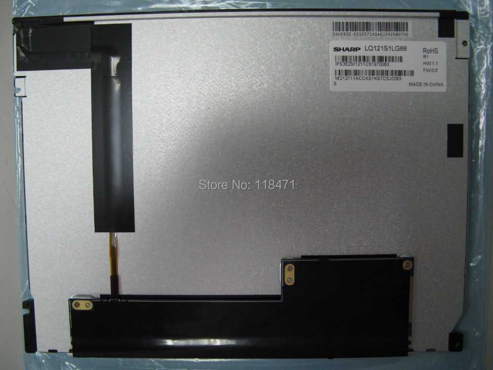 Original industrial 100% Tested  LQ121S1LG88 12.1 LCD Panel  Display 6 months warrantyOriginal industrial 100% Tested  LQ121S1LG88 12.1 LCD Panel  Display 6 months warranty