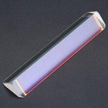 1pcs Optical Glass Triple Triangular Prism Physics Refractor Teaching Light Spectrum Educational Teach School Tool