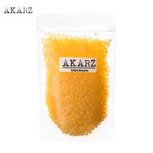AKARZ znane marki żółty wosk pszczeli czysty naturalny kosmetyk najwyższej jakości dla DIY balsamy do ust balsamy świece wosk pszczeli pastylles