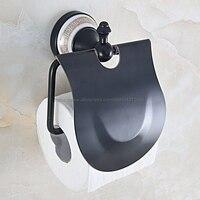 Black Oil Rubbed Brass Toilet paper Holder Wall Mount Toilet Tissue Paper Holder Bathroom Paper Roll Holder Nba714