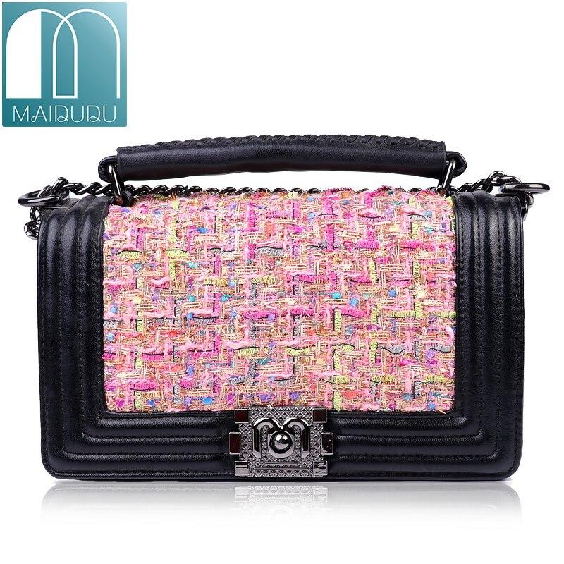 2018 Nnew Fashion Handbags Woolen Small Flap Ladies Clutch Shoulder Bags Brand Chain Vintage Women leather Messenger Tote|messenger tote|women messengerbrand handbags - AliExpress
