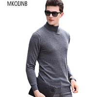 Sweater Pullover Men 2018 Male Brand Casual Solid Color Knitt Wool Sweaters Men Comfortable Hedging Turtleneck Men'S Sweater