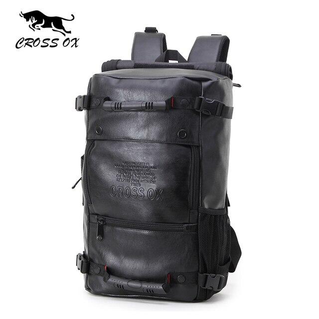 CROSS OX 2017 Новый Мужчины рюкзаки Мода Кожа PU рюкзак Ipad мешок многофункциональные сумки для мужчин большой емкости поход мешок BK035M