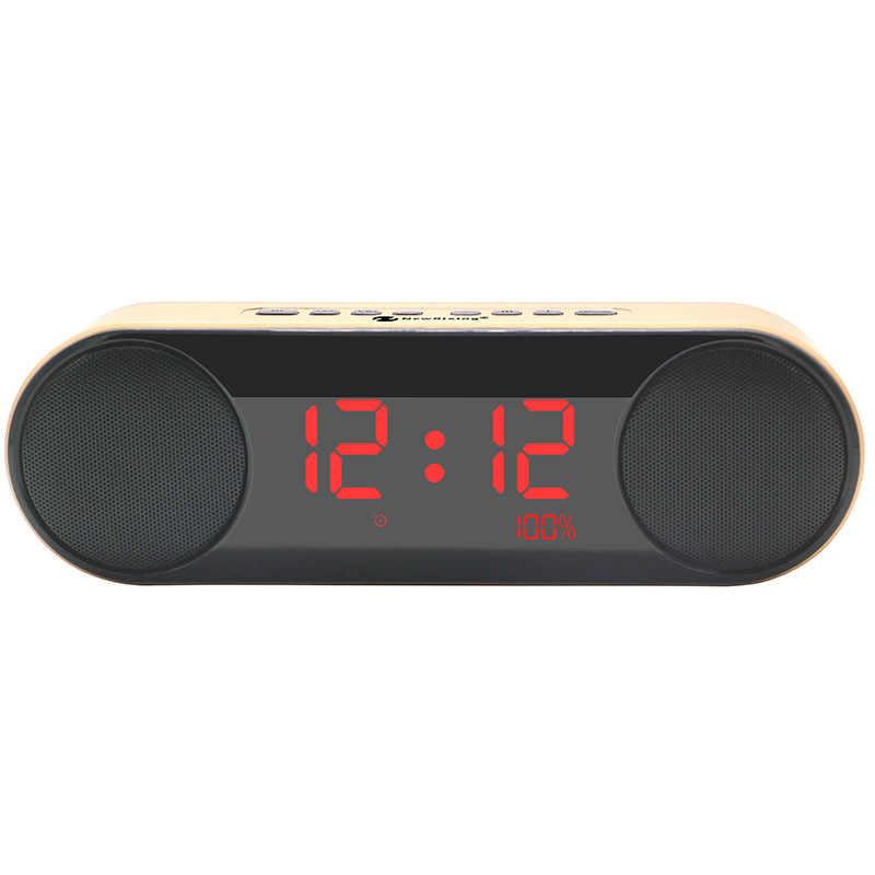 HIFI портативный динамик s беспроводной Bluetooth динамик часы стерео Саундбар TF FM сабвуфер Колонка caixa де сом с микрофоном Handfree