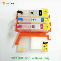 vilaxh 903 Refillable Ink Cartridge Replacement For HP 903 904 905 xl 903xl OfficeJet Pro 6960 6961 6964 6970 6950 Without chip
