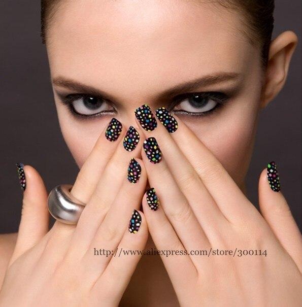 Wholesale Promotion Metal Nail Polish Stickers 3d Glitter Diamond