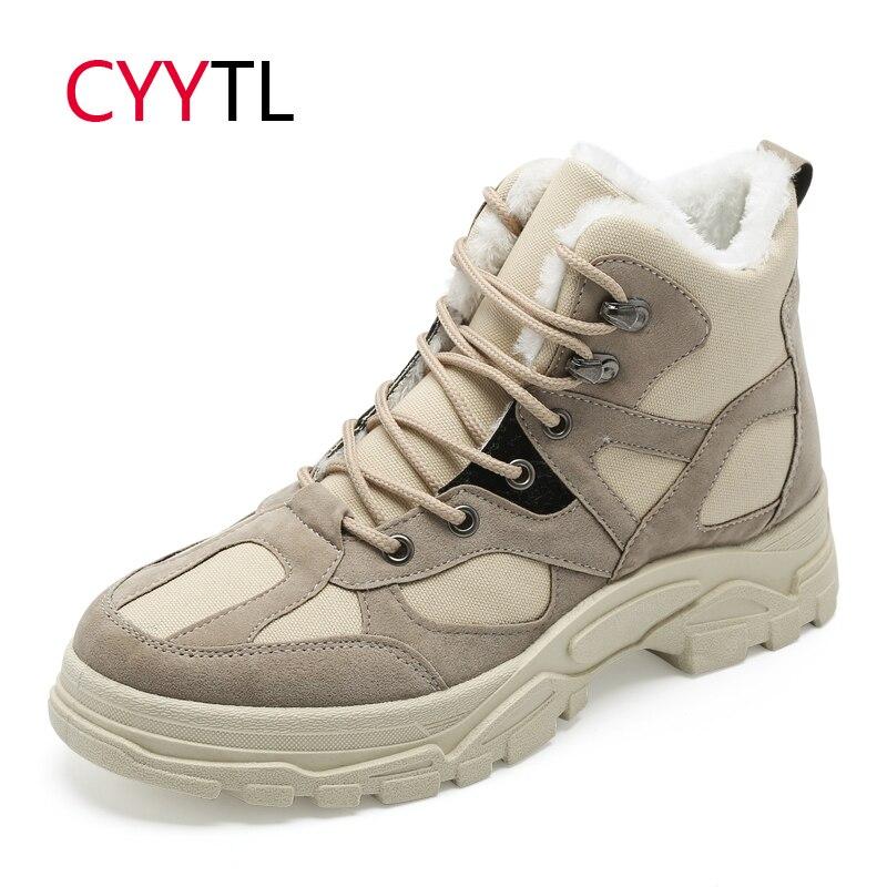Mâle Cyytl Zapatos Chaussures Bot Fur Botas Bottes Travail Beige Erkek Moto black beige Casual Hombre Sécurité Neige Chaudes Au Hommes De D'hiver Sneakers OOSqC