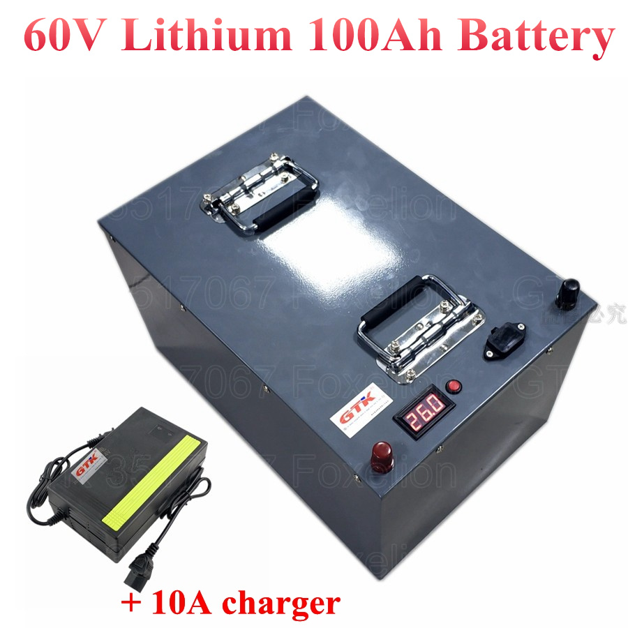 Metal Case 60v 100ah Lithium Battery Li Ion High Power