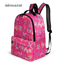 Advocator 15.6″ Laptop Backpack Striped Polyester Korean Men Rucksack Printed Travel Women Bags Set School Bag for Teenager