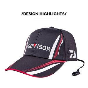 Image 1 - 2019 New Summer Daiwa Fishing Hat Japanese Japan Sunshade Sport Baseball Fishing Sport Cap Black Special Bucket Fishing Hat