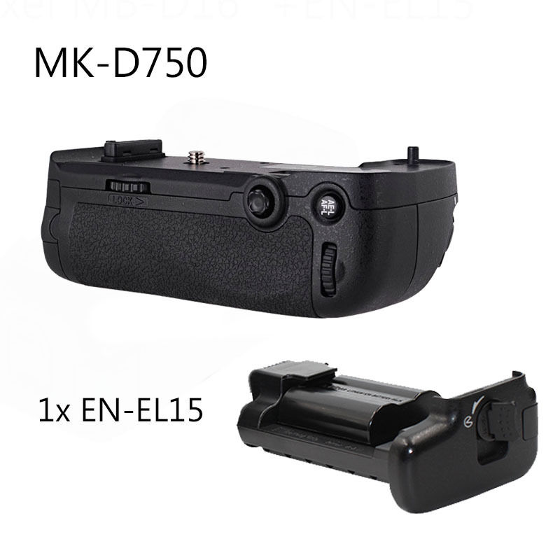 MEIKE MK-D750 Battery Grip Pack as MB-D16 for Nikon D750 + EN-EL15 meike mk dr750 vertical battery grip pack holder for nikon d750 rechargeable li ion battery for nikon en el15 cleaning kit